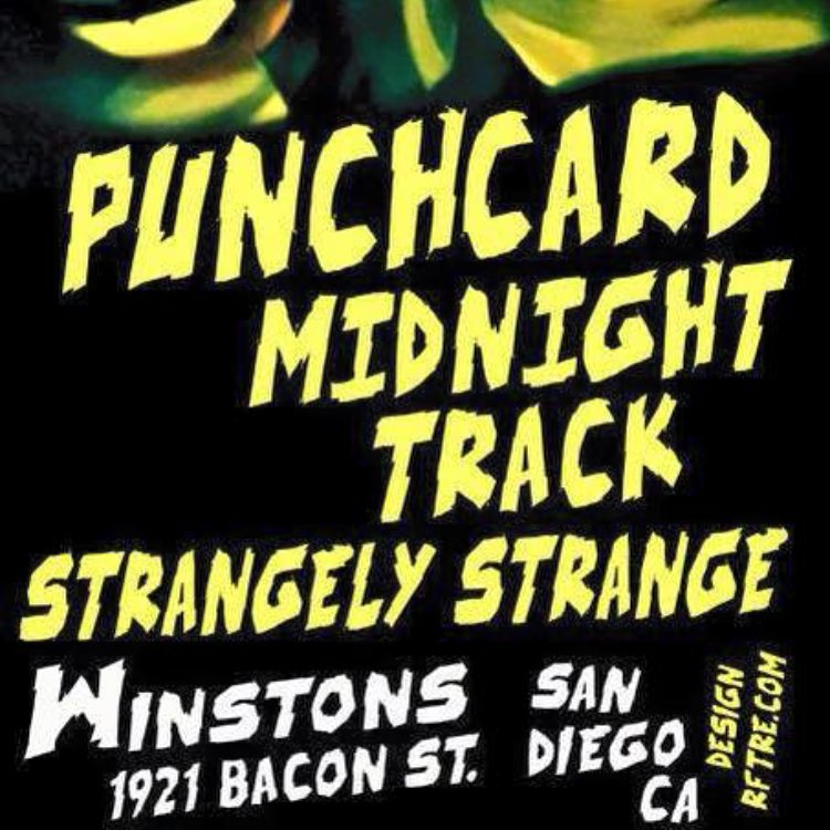 Winstons Saturday 1017 Punchcard Midnight Track and Strangely Strange! winstonsobhellip
