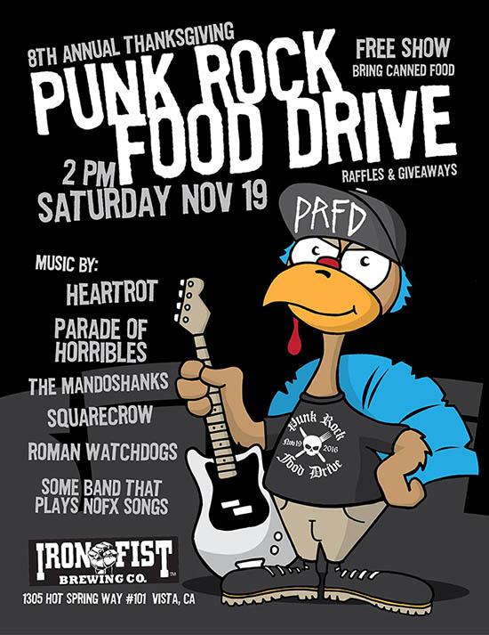 Thanksgiving 2016 Punk Rock Food Drive